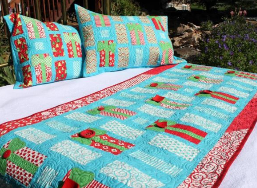 quilted bed