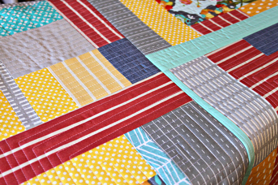 Bold, Patterned Quilt - Quilt as You Go on craftsy.com