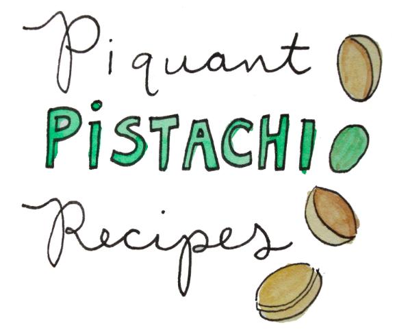 Cartoon of Piquant Pistachio Recipes