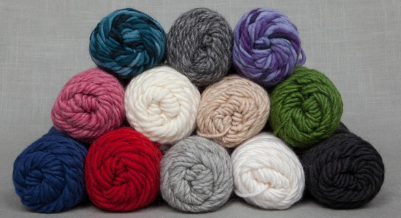 Pile of Colorful Yarn