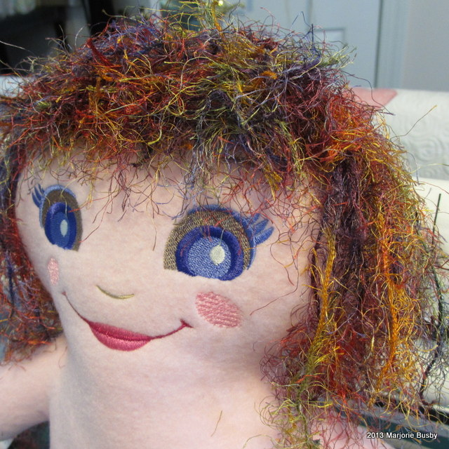 Doll with Colorful Thread Hair