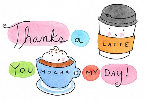 Cartoon of Coffee Cups