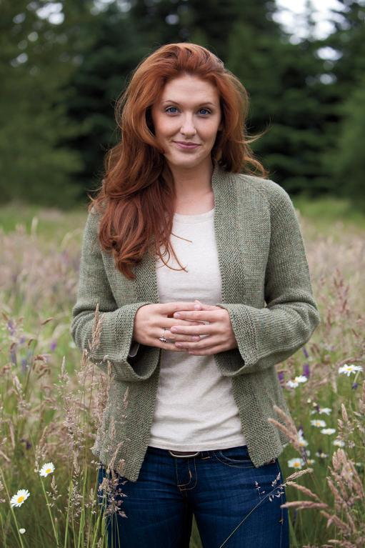 Woman Wearing Green Sweater in Field