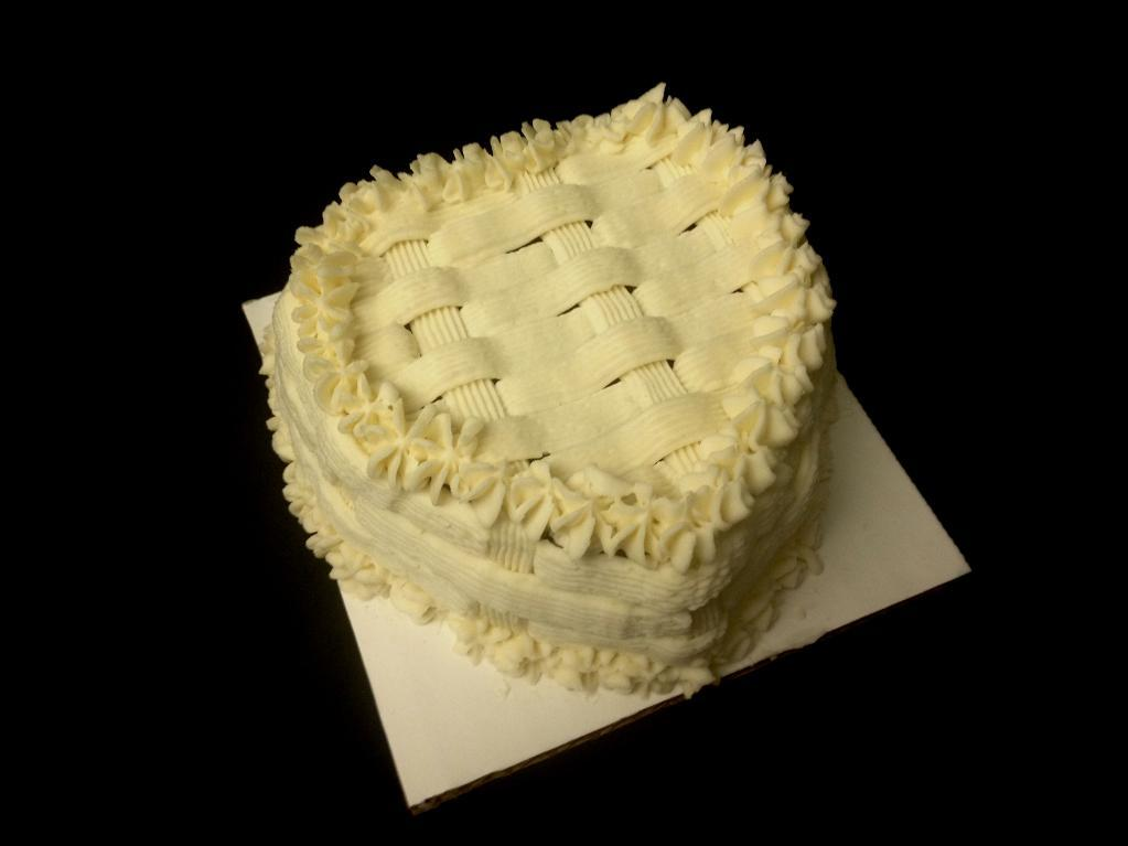 Basketweave Heart Cake