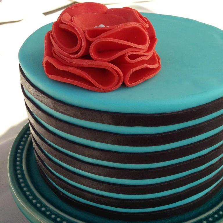 Blue Striped Cake