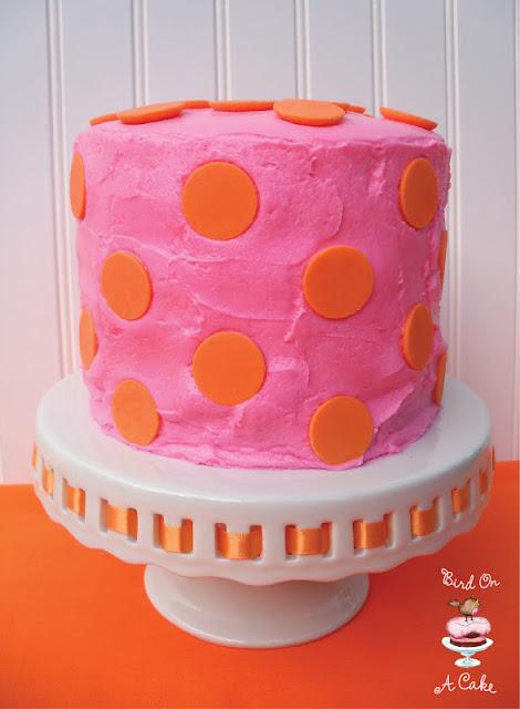 Candy Melt Polka Dot Cake