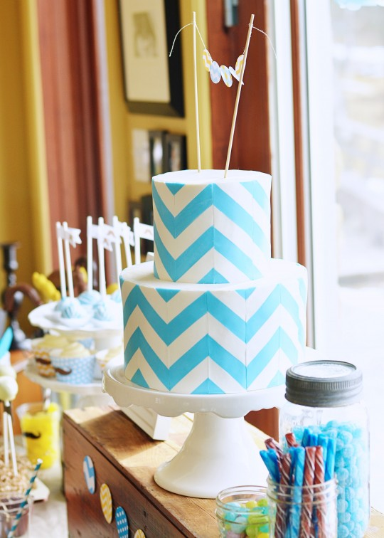 Chevron Striped Cake
