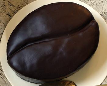 Cake Shaped Like Coffee Bean