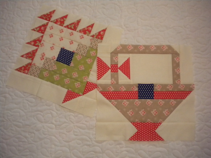 Quilt with Creatively Patterned and Placed Baskets
