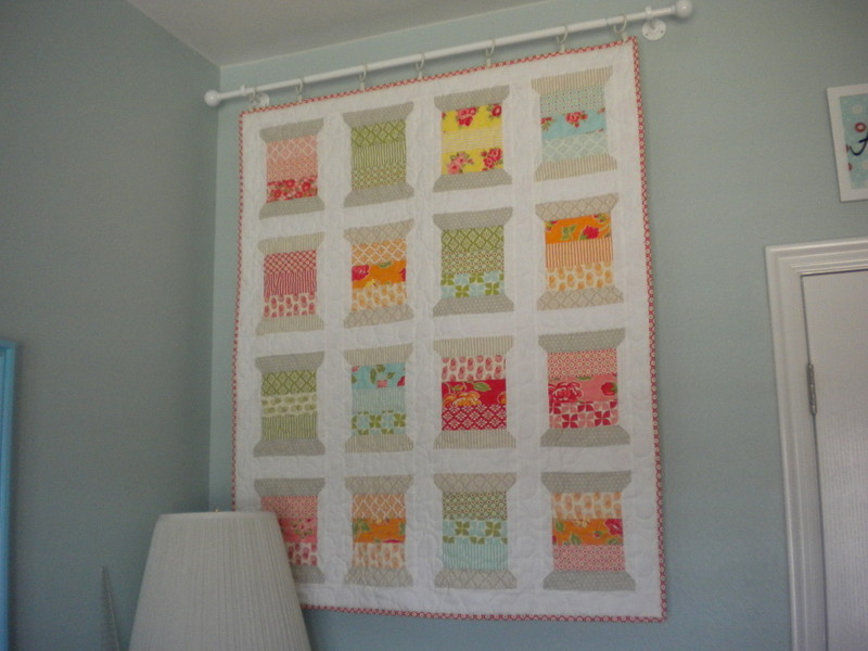 Spool-Themed Quilted Wall Hanging