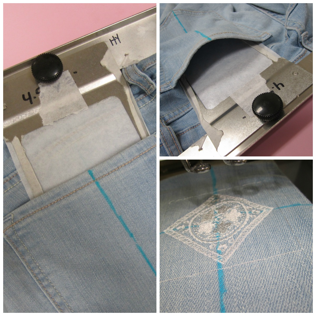 Embroidering Jeans