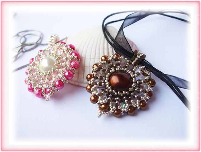 Jewelry Making: Two Colorful Beaded Pendants