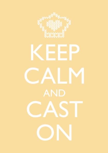 "Card Reading ""Keep Calm and Cast On"""
