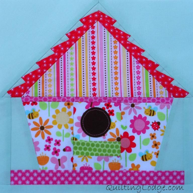 Colorful Bird House Quilt