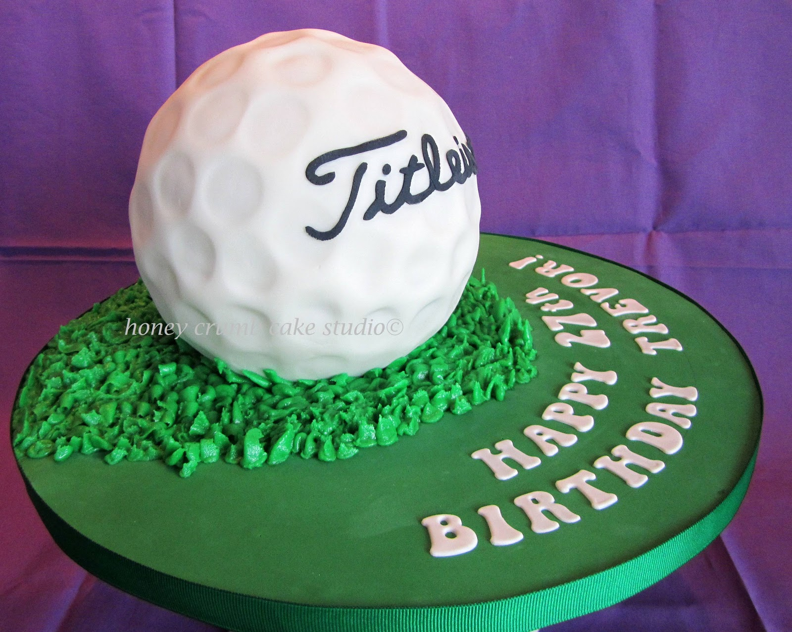Birthday Cake in Shape of Golf Ball