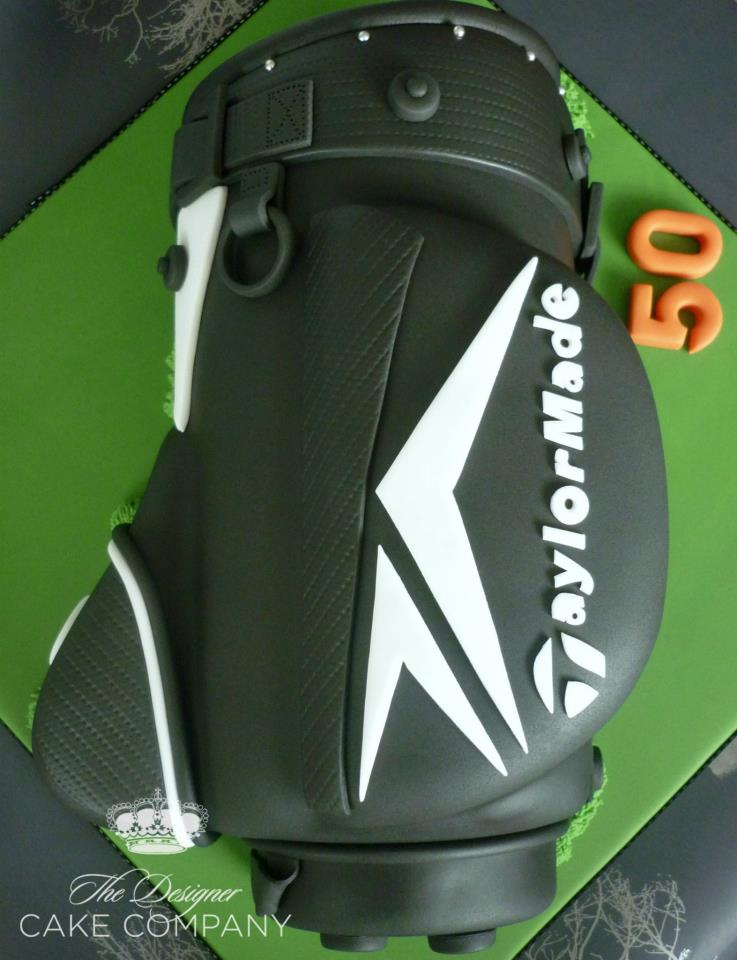 Birthday Cake in Shape of Golf Bag