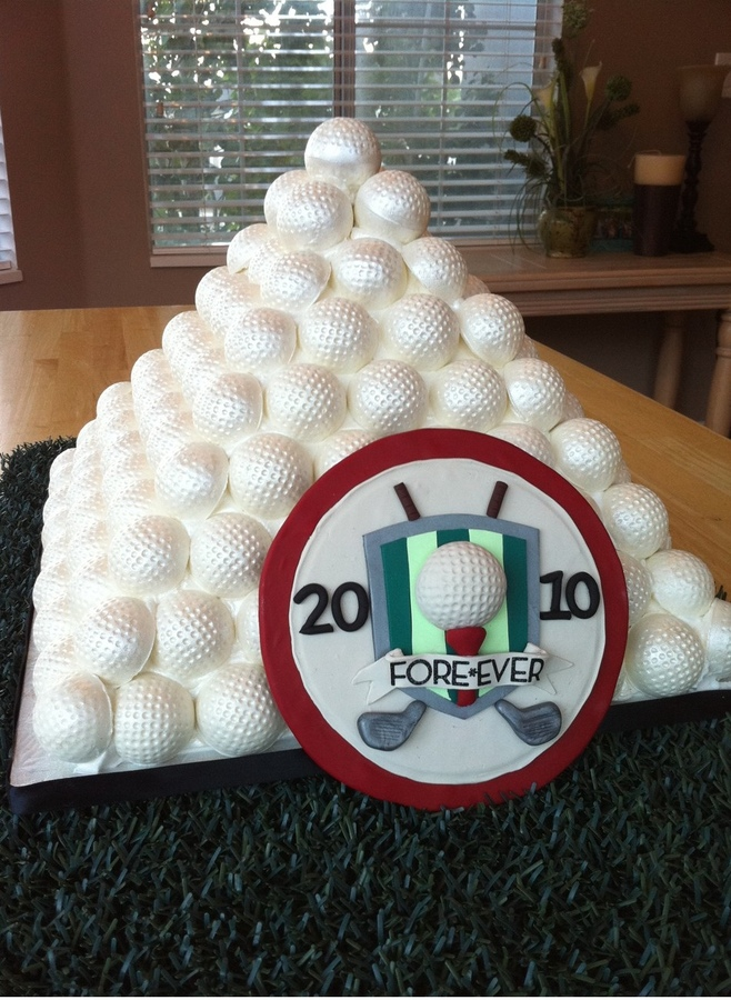cake in Shape of Pile of Golf Balls