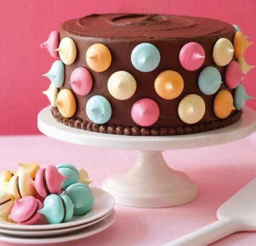 Meringue Polka Dot Cake