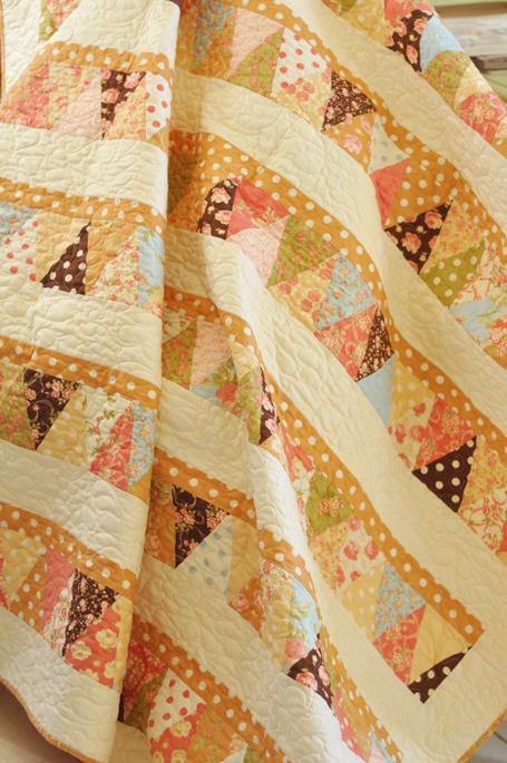 Nooks and Crannies Triangle Quilt