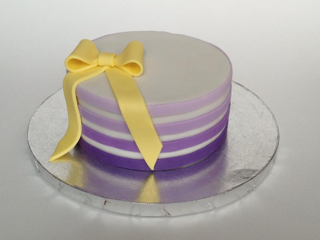 Ombre Striped Cake