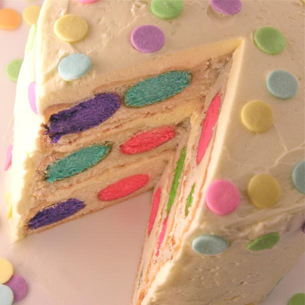 Polka Dot Interior Cake