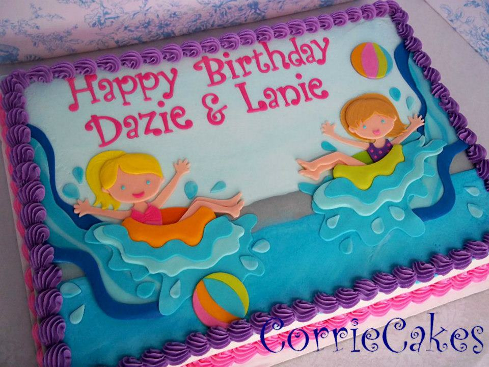 Pool Themed Cake