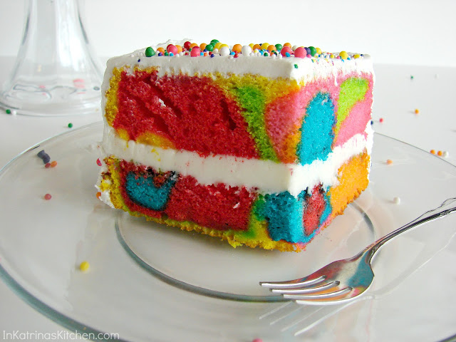Rainbow Interior Cake