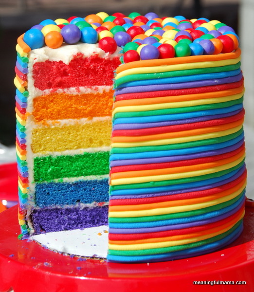 Rainbow Overload Cake