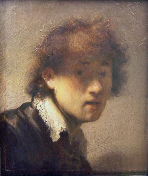 Oil Painting: Rembrandt's Self Portait at an Early Age
