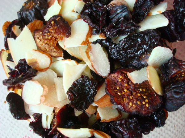 Close up of Various Nuts and Dried Berries