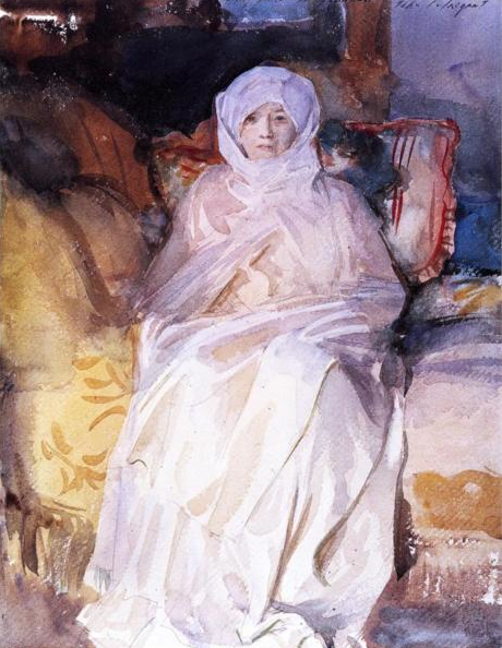 Sargent Painting of Woman on Bed