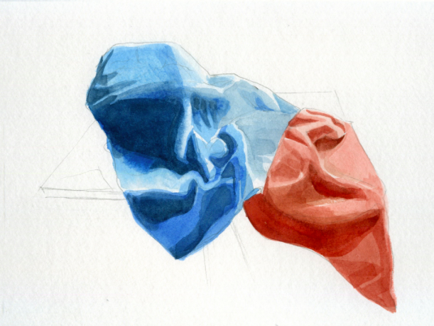 Painting with Two Different Watercolors