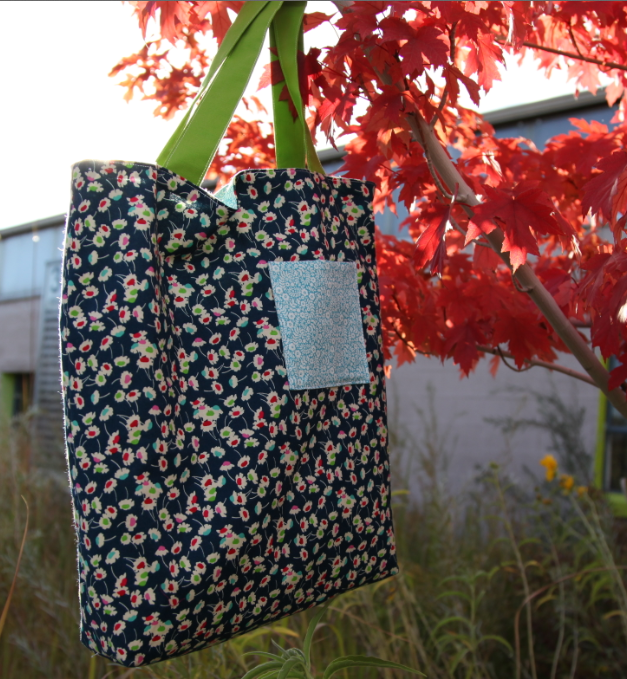 Tote Bag Hanging in Autumn Tree