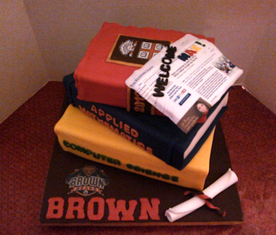 Cake Shaped Like a Stack of Books