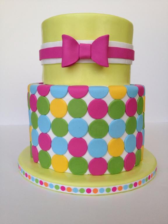 Springtime Polka Dot Cake