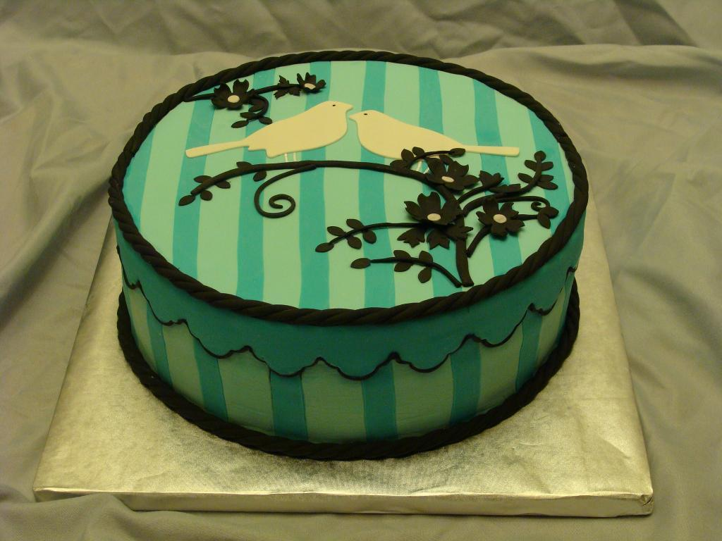 Striped Background Cake