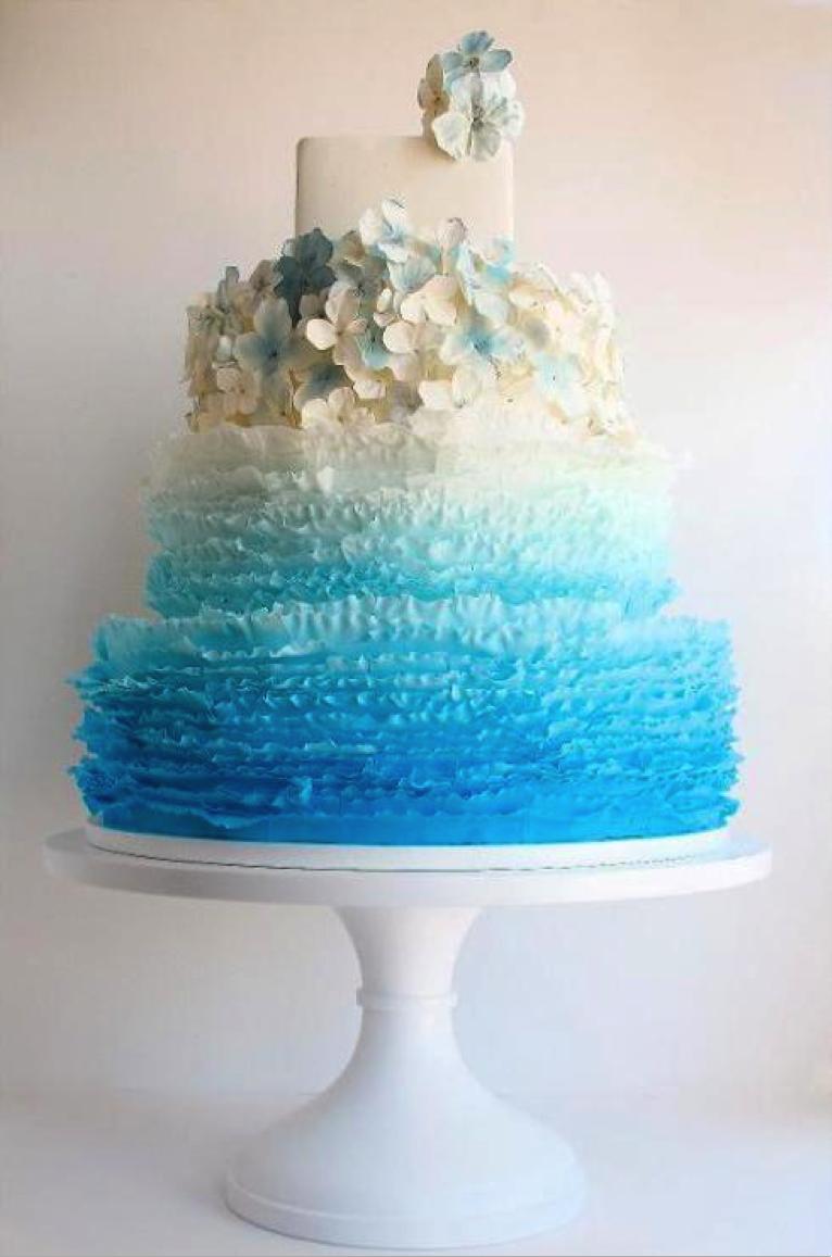 Blue Frill Cake