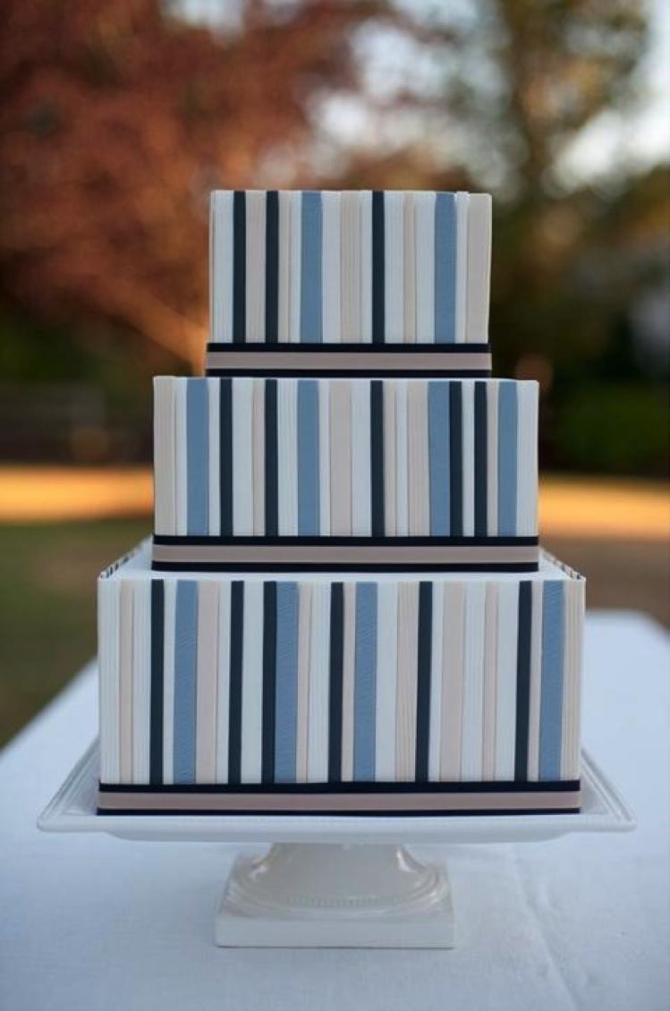 Modern Blue Cake
