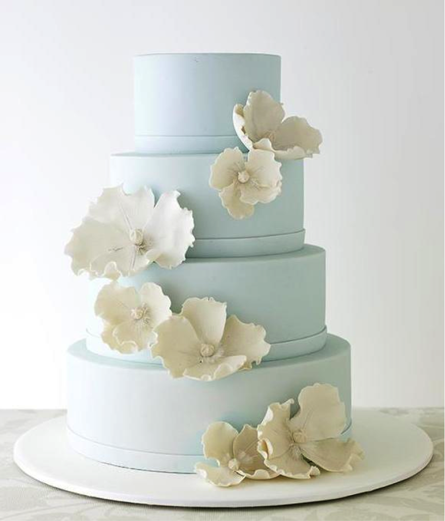 Light Blue Cake