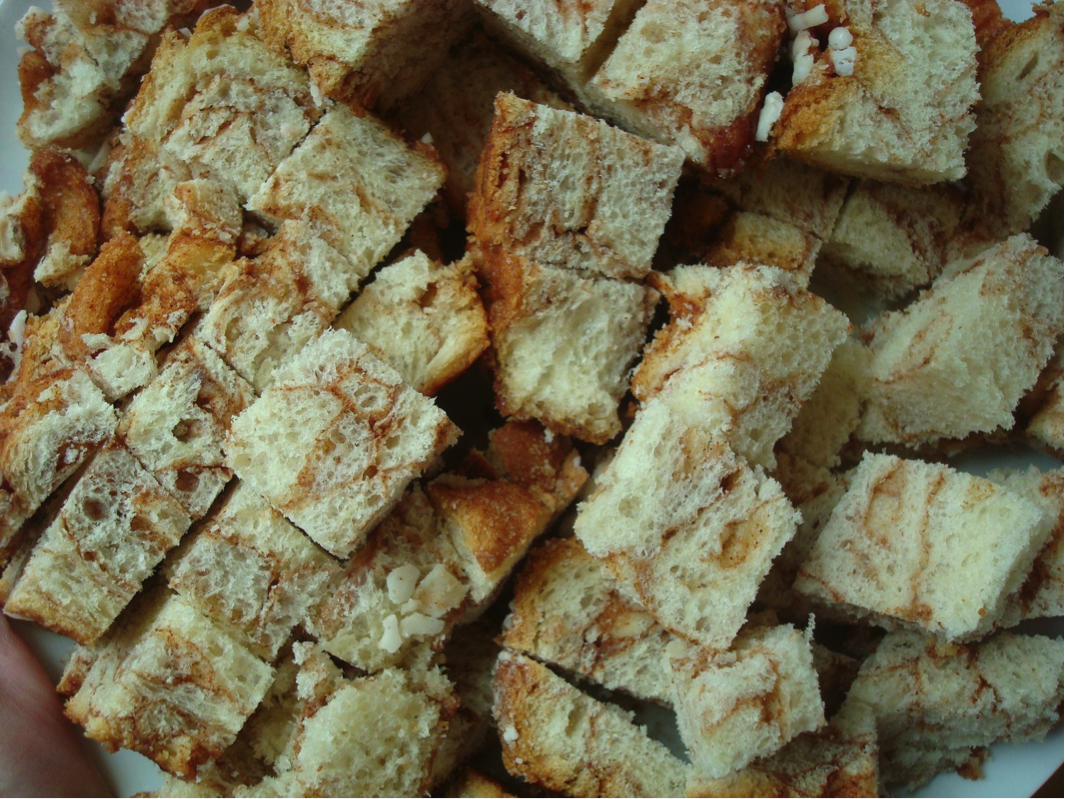 Pices of Bread Cubes