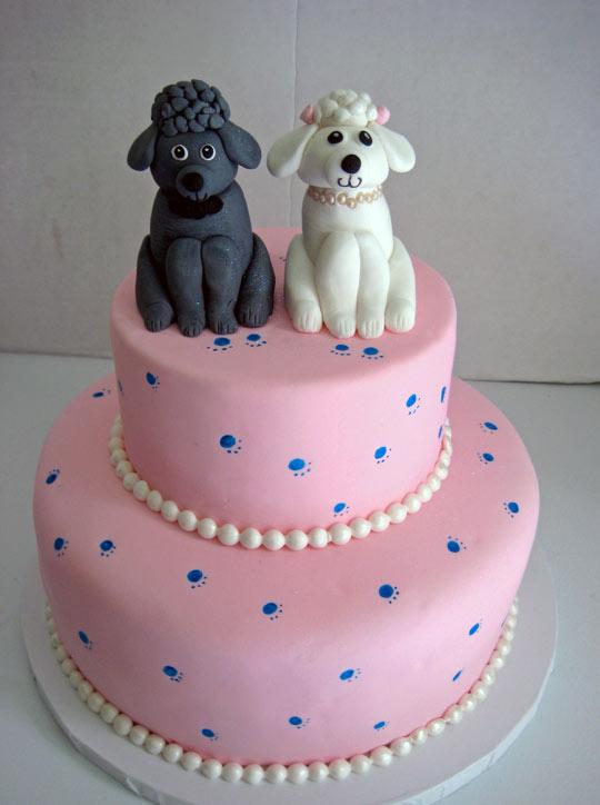 Poodle Wedding Cake