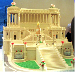 Cake Shaped Like Vittorio Emmanuel Monument