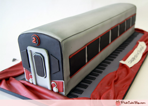 Cake in Shape of Subway Car