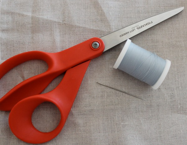 Scissors and Bobbin with Grey Thread