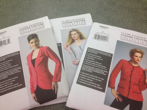 Collection of Couture Sewing Pattern Packages