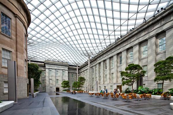 Interior of a Plaza Atrium