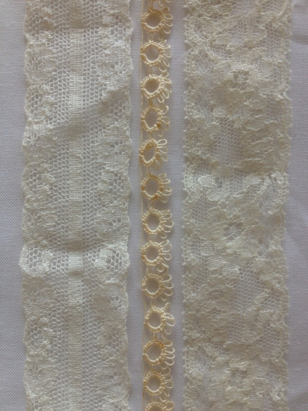 Three Rows of Different Lace