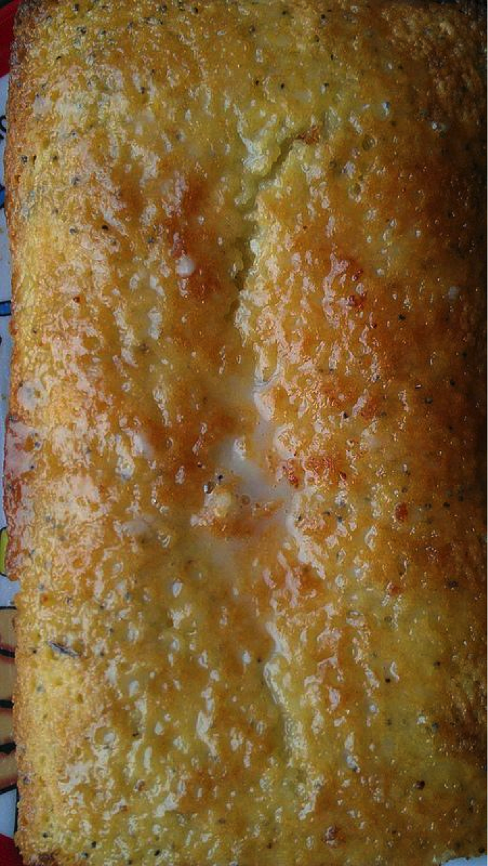 Top of Lemon Poppyseed Bread