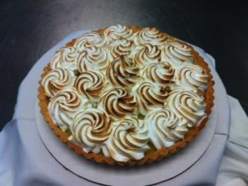 Lemon Tart with Burnt Marshmallow Top