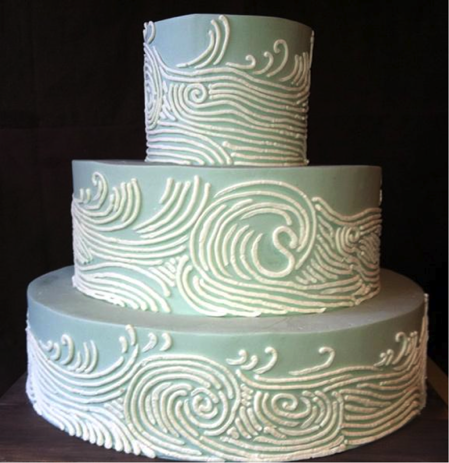 Ocean Piped Cake